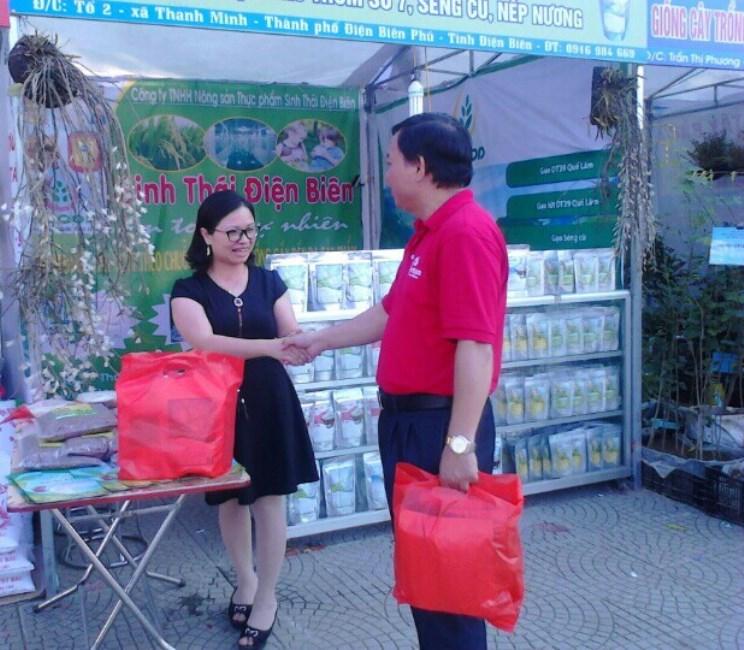 Giới thiệu sản phẩm tại hội chợ thương mại 3/2017 - Điện Biên
